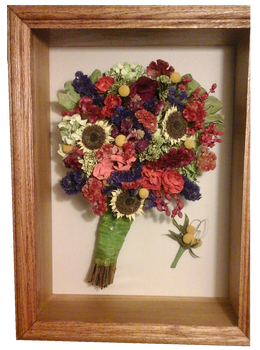 flower floral bouquet shadowbox